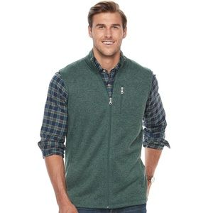 Big & Tall Croft & Barrow® Outdoor Fleece Vest